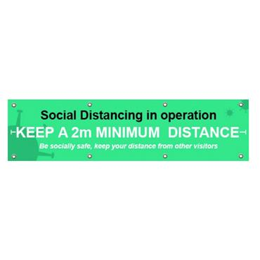 """Citec STP150 """"SOCKIAL DISTANCING IN OPERATON"""" Sign BAN 2000 x 500m"""