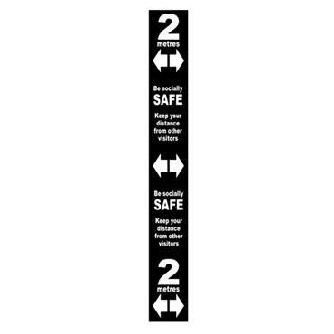 Citec Floor Distance Marker PVC Laminated Self Adhesive 800 x 100mm  Various Colours available