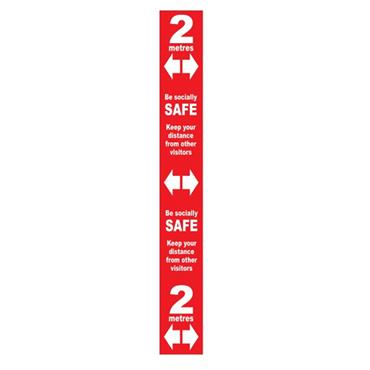 Citec Floor Distance Marker SAV Laminated Self Adhesive 800 x 100mm Various Colours available