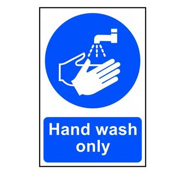"Citec 0417 "" HAND WASH ONLY"" PVC 200 x 300mm"