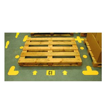 Citec 14690 Warehouse Floor Signalling 'L' Shape Yellow - Pack of 10  200 x 200mm