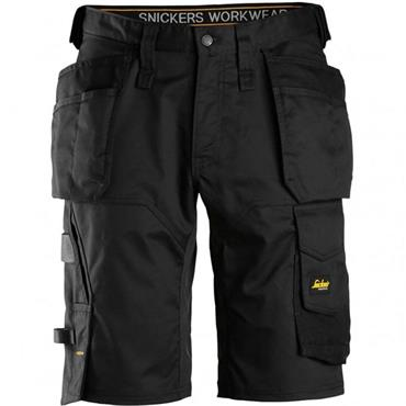 SNICKERS WORKWEAR Snickers 6151 AllroundWork Stretch Shorts Holster Pockets Black
