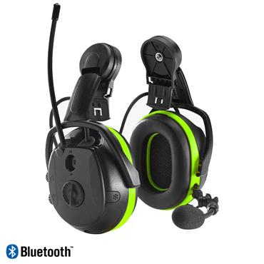 Hellberg 49112-001 Secure Synergy Multi-point Earmuffs with Bluetooth,  for Helmet, Black/Green