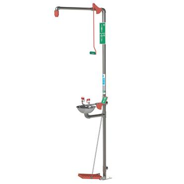 Hughes Showers EXP-18GS/85G Stainless Steel Indoor Emergency Safety Shower with Eye/Face Wash