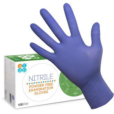 ASAP Nitrile Powder Free Examination Glove Box of 100