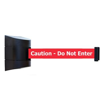 "Queue WP450B-RWC-6.1MTR ""CAUTION DO NOT ENTER"" Retractable Belt Barriers"