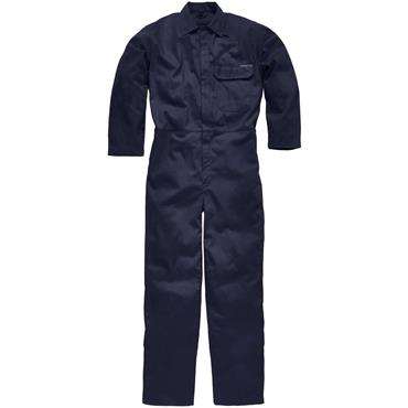 Dickies FR24/7A Flame Retardant Antistatic Everyday Coverall Boiler Suit Stud Front  Navy