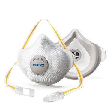 MOLDEX 340815 FFP3 R D (ProValve) Air Plus Face Mask, Pack of 5