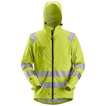 Snickers 8233 High-Vis PU Rain Class 3 Jacket Yellow