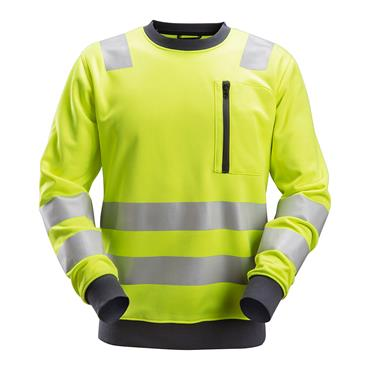 Snickers 8037 High-Vis Class 2/3 Sweatshirt Yellow