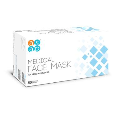 ASAP Medical Face Masks, Box of 50