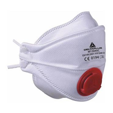 DELTA PLUS FFP3 Disposable Half Masks with 4 Foldable Parts and Valve, Box of 10