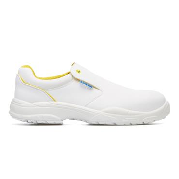 EXENA Sage S1 ESD SRC White Slip-On Safety Shoes