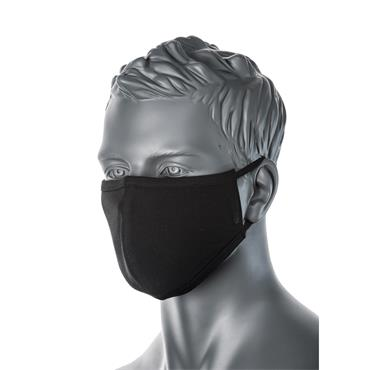 Citec 2-Ply Reusable Face Masks Black - Pack of 25