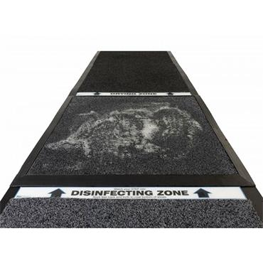 """NO TRACK 355 Clean, Sanitize & Dry Shoe Mat System 3-Zone 27""""W x 108.5""""L"""