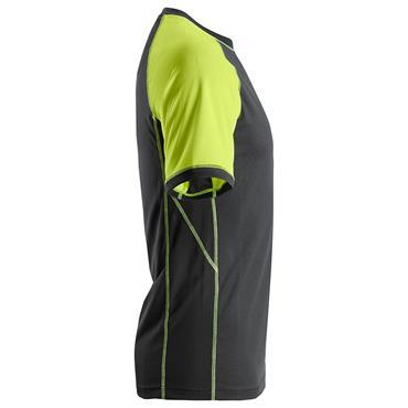 SNICKERS WORKWEAR 2505 Black / Neon Yellow Short Sleeve T-Shirt