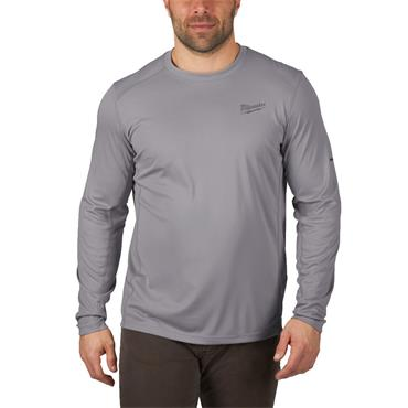 MILWAUKEE WWLSG Workskin Light Weight Performance Long Sleeve Shirt, Grey