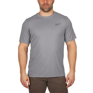 MILWAUKEE  WWSSG Workskin Light Weight Performance Short Sleeve Shirt, Grey