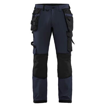 BLAKLADER 1522 Craftsman Trousers 4 Way Stretch Dark Navy/Black