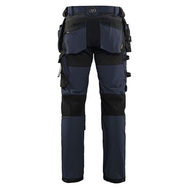 BLAKLADER Craftsman Trousers 4-way stretch, Dark Navy/Black