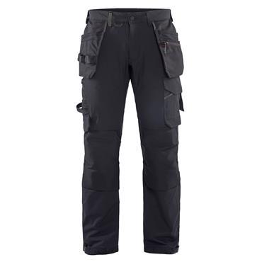 BLAKLADER 1522 Craftsman Trousers 4 Way Stretch Black/Dark Grey