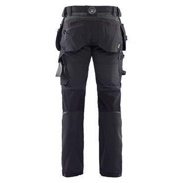 BLAKLADER Craftsman Trousers 4-way stretch, Black/Dark Grey