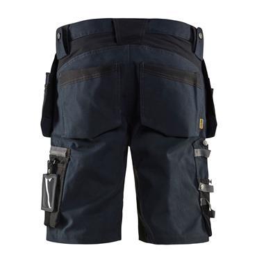 BLAKLADER 15981343 Craftsman shorts with stretch , Dark Navy/Black
