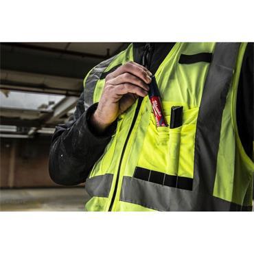 MILWAUKEE 49324718 High Visibility Vest, Yellow