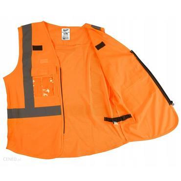 MILWAUKEE 49324718 High Visibility Vest, Orange