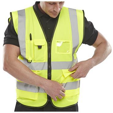 CITEC  WCENGEXEC  Executive Hi Viz Waist Coat -  Saturn Yellow