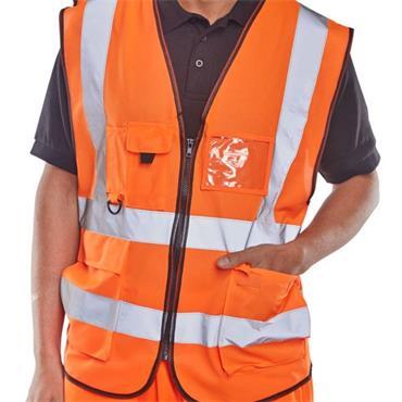 CITEC WCENGEXECOR  Executive Hi Viz Waist Coat - Orange