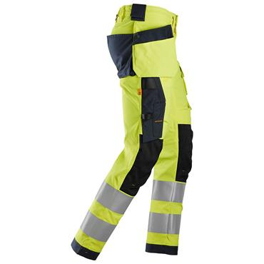 Snickers 6243 AllroundWork Hi-Vis Stretch Trousers Holster Pockets - Yellow/Black