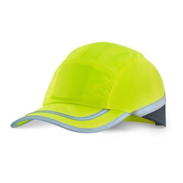 B-BRAND BBSBCY  Safety Baseball Cap with Retro Reflective Tape Saturn Yellow