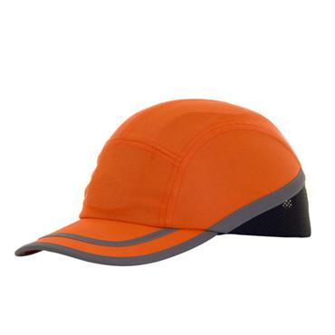B-BRAND BBSBCOR Safety Baseball Cap with Retro Reflective Tape Orange