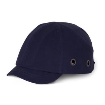 B BRAND BBSPSBCN Short Peak Safety Baseball Cap, Navy Blue