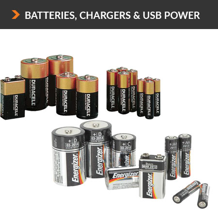 Batteries Chargers & Usb power