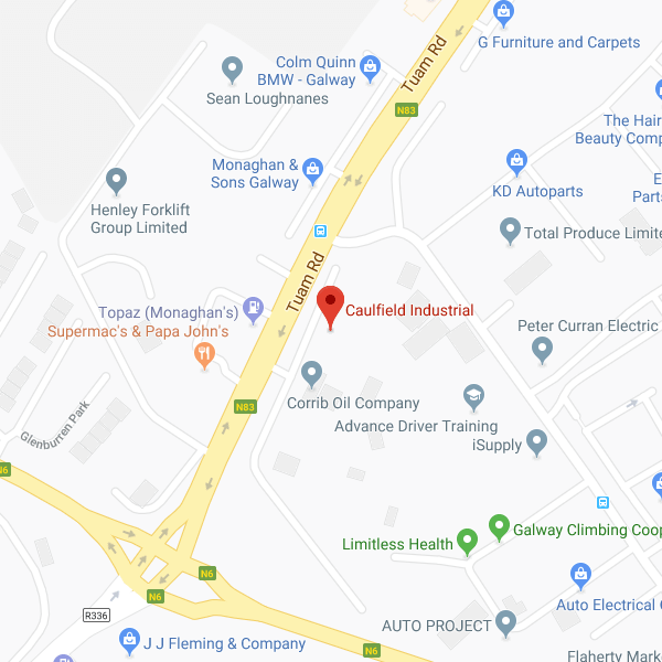Caulfield Industrial Tuam Road location map